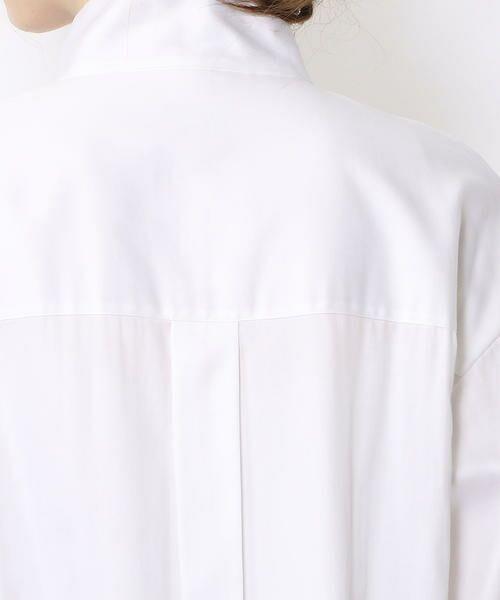TOMORROWLAND / トゥモローランド シャツ・ブラウス | コットンシルクサテン ハイネックチュニックシャツ | 詳細8