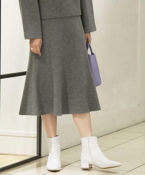 TOMORROWLAND / トゥモローランド ミニ・ひざ丈スカート | プレミアムウール マーメイドスカート(15 グレー)