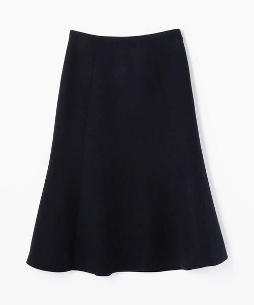 TOMORROWLAND / トゥモローランド ミニ・ひざ丈スカート | プレミアムウール マーメイドスカート(69 ネイビー)