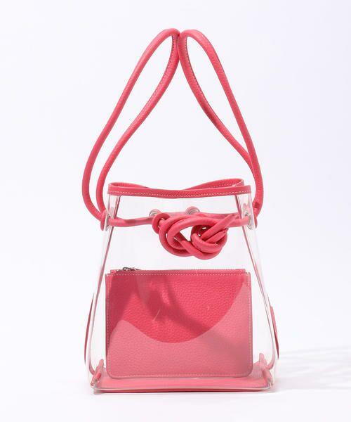 TOMORROWLAND / トゥモローランド ハンドバッグ | 【別注】VASICxTOMORROWLAND BOND MINI PVCハンドバッグ(33 ピンク)