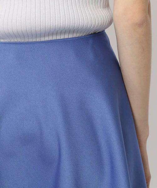 TOMORROWLAND / トゥモローランド ミニ・ひざ丈スカート | ポリエステルサテン サーキュラースカート | 詳細14