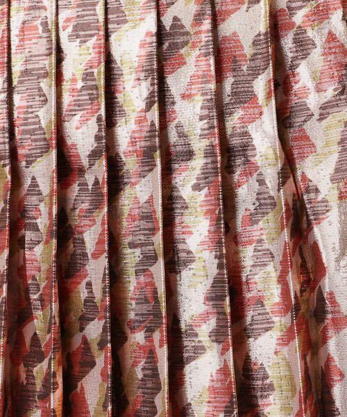 TOMORROWLAND / トゥモローランド ミニ・ひざ丈スカート   メタルラメプリント プリーツスカート   詳細8