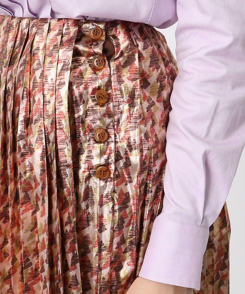 TOMORROWLAND / トゥモローランド ミニ・ひざ丈スカート   メタルラメプリント プリーツスカート   詳細9