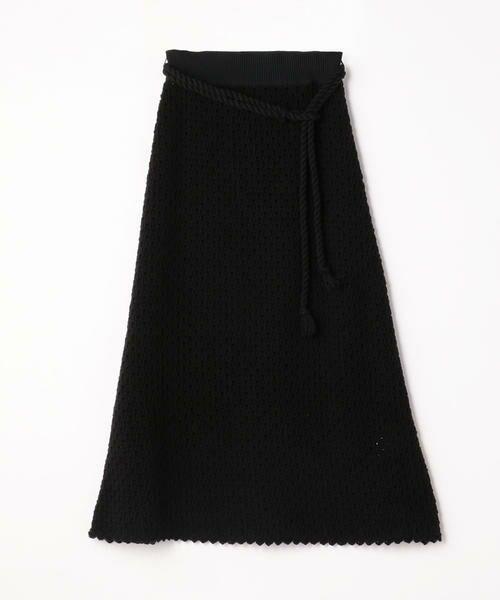 TOMORROWLAND / トゥモローランド ミニ・ひざ丈スカート   リサイクルコットン Aラインスカート(19 ブラック)