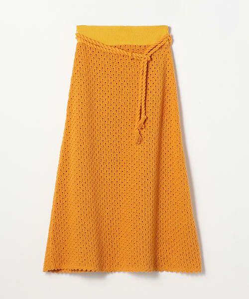 TOMORROWLAND / トゥモローランド ミニ・ひざ丈スカート   リサイクルコットン Aラインスカート(23 イエロー)