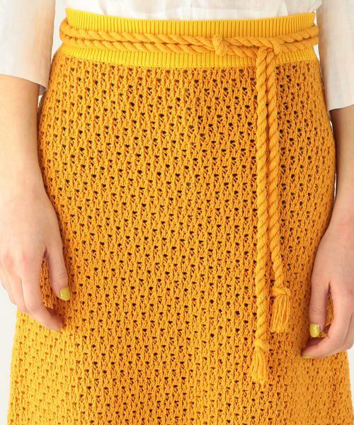 TOMORROWLAND / トゥモローランド ミニ・ひざ丈スカート | リサイクルコットン Aラインスカート | 詳細4