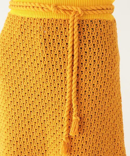 TOMORROWLAND / トゥモローランド ミニ・ひざ丈スカート | リサイクルコットン Aラインスカート | 詳細5