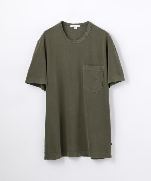 TOMORROWLAND / トゥモローランド Tシャツ   コットン ポケット付きTシャツ MSX3349G(59 ダークグリーン)