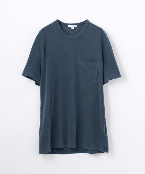 TOMORROWLAND / トゥモローランド Tシャツ   コットン ポケット付きTシャツ MSX3349G(66 ブルー)