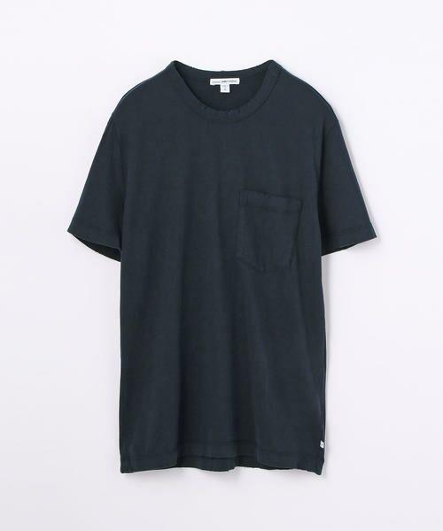 TOMORROWLAND / トゥモローランド Tシャツ   コットン ポケット付きTシャツ MSX3349G(67 ネイビー)