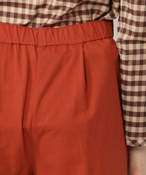 TOMORROWLAND / トゥモローランド ショート・ハーフ・半端丈パンツ | ハイツイストコットン フロントタッククロップドパンツ | 詳細9