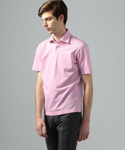 TOMORROWLAND / トゥモローランド ポロシャツ | 60/2コットンメッシュ ポロシャツ(33 ピンク)