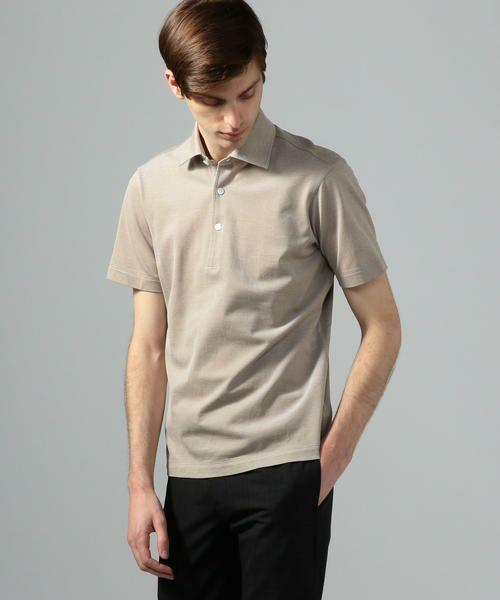 TOMORROWLAND / トゥモローランド ポロシャツ | 60/2コットンメッシュ ポロシャツ(43 ベージュ)