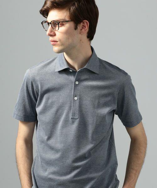 TOMORROWLAND / トゥモローランド ポロシャツ | 60/2コットンメッシュ ポロシャツ(65 ブルー)