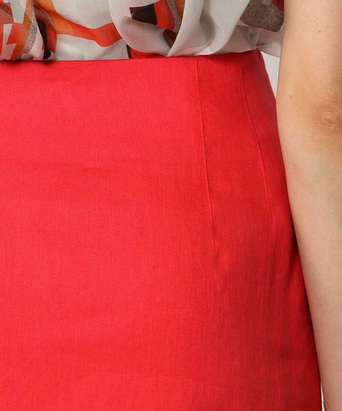 TOMORROWLAND / トゥモローランド ミニ・ひざ丈スカート | リネンレーヨンストレッチ Iラインミディスカート | 詳細10
