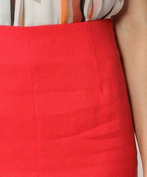 TOMORROWLAND / トゥモローランド ミニ・ひざ丈スカート | リネンレーヨンストレッチ Iラインミディスカート | 詳細9