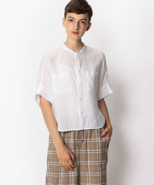 TOMORROWLAND / トゥモローランド シャツ・ブラウス | フレンチリネン ハーフスリーブシャツ(11 ホワイト)