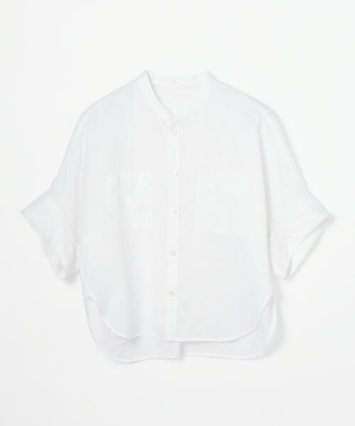 TOMORROWLAND / トゥモローランド シャツ・ブラウス   フレンチリネン ハーフスリーブシャツ   詳細9