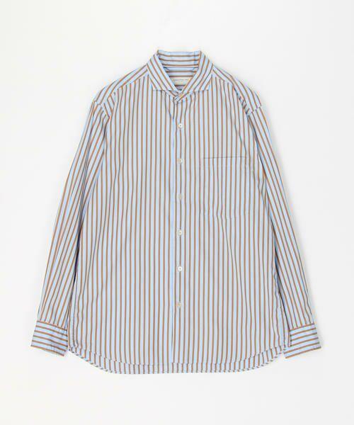 トゥモローランド(TOMORROW LAND)100/2コットンポプリン カッタウェイカラーシャツ