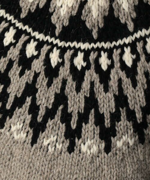 TOMORROWLAND / トゥモローランド ニット・セーター | 【WEB先行予約】求心ジャカード クルーネックニット MADE IN PERU | 詳細9