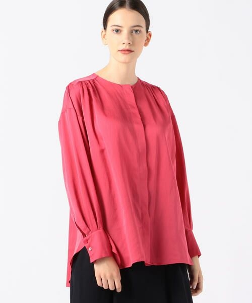 TOMORROWLAND / トゥモローランド シャツ・ブラウス | コットンシルク バックギャザーシャツ(31 ライトピンク)