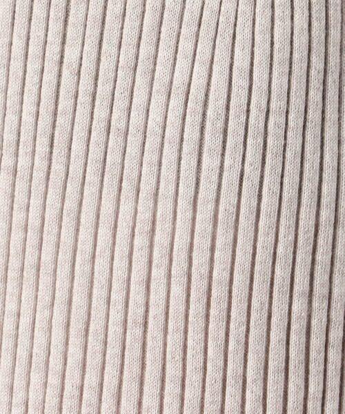 TOMORROWLAND / トゥモローランド ミニ・ひざ丈スカート   ウーステッドウールリブ Iラインミディスカート   詳細5