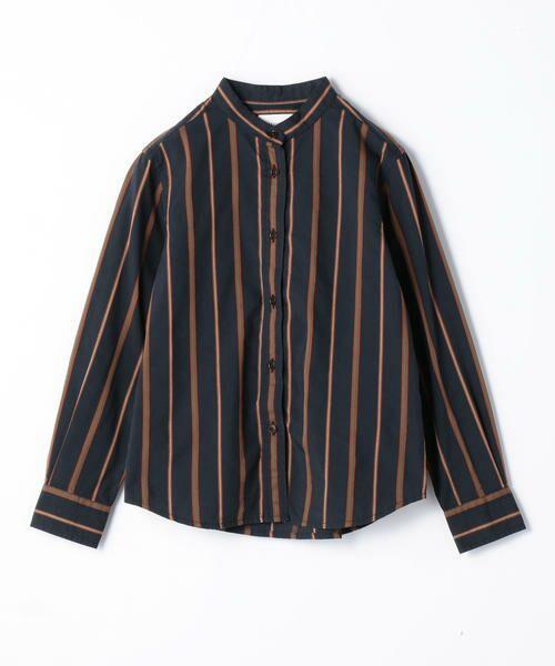 TOMORROWLAND / トゥモローランド シャツ・ブラウス | レジメンタルストライプ スタンドカラーシャツ | 詳細3