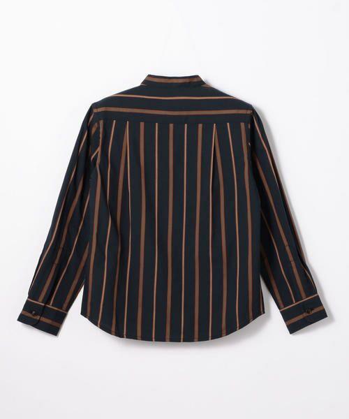 TOMORROWLAND / トゥモローランド シャツ・ブラウス | レジメンタルストライプ スタンドカラーシャツ | 詳細4