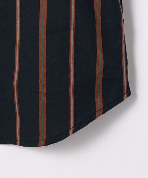 TOMORROWLAND / トゥモローランド シャツ・ブラウス | レジメンタルストライプ スタンドカラーシャツ | 詳細9