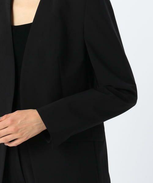 TOMORROWLAND / トゥモローランド ノーカラージャケット   ウールストレッチ ノーカラージャケット   詳細7