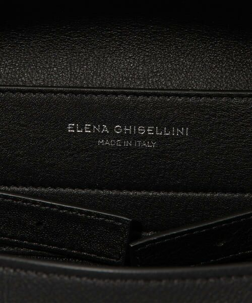 ELENA GHISELLINI チェーンハンドルレザーハンドバッグ