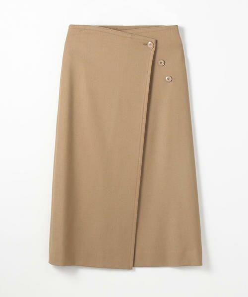 TOMORROWLAND / トゥモローランド ミニ・ひざ丈スカート | ウールストレッチ 3-wayスカート(45 キャメル)
