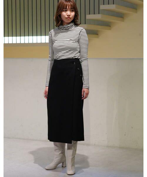 TOMORROWLAND / トゥモローランド ミニ・ひざ丈スカート | ウールストレッチ 3-wayスカート | 詳細3