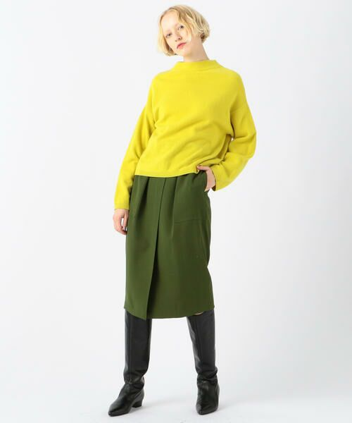 TOMORROWLAND / トゥモローランド ミニ・ひざ丈スカート | ドライオックス バックギャザースカート | 詳細3