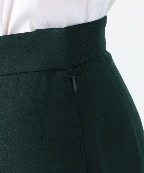 TOMORROWLAND / トゥモローランド ミニ・ひざ丈スカート | ドライクロス アシンメトリープリーツスカート | 詳細8
