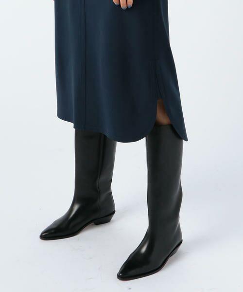 TOMORROWLAND / トゥモローランド ミニ・ひざ丈スカート | ウールストレッチ ラウンドヘムスカート | 詳細9