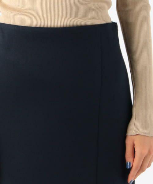TOMORROWLAND / トゥモローランド ミニ・ひざ丈スカート | ボンディングクロス サイドスリットスカート | 詳細7