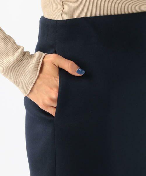 TOMORROWLAND / トゥモローランド ミニ・ひざ丈スカート | ボンディングクロス サイドスリットスカート | 詳細8