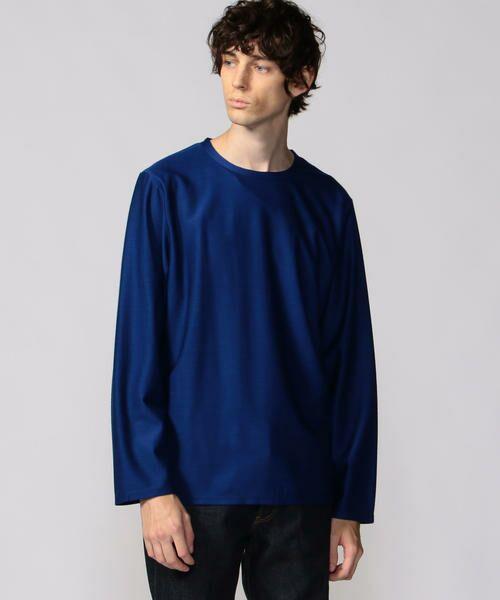TOMORROWLAND / トゥモローランド カットソー | インレー ロングスリーブTシャツ(65 ブルー)