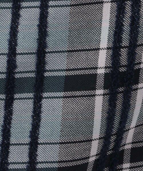 TOMORROWLAND / トゥモローランド ミニ・ひざ丈スカート | リングエフェクトチェック Iラインスカート | 詳細7