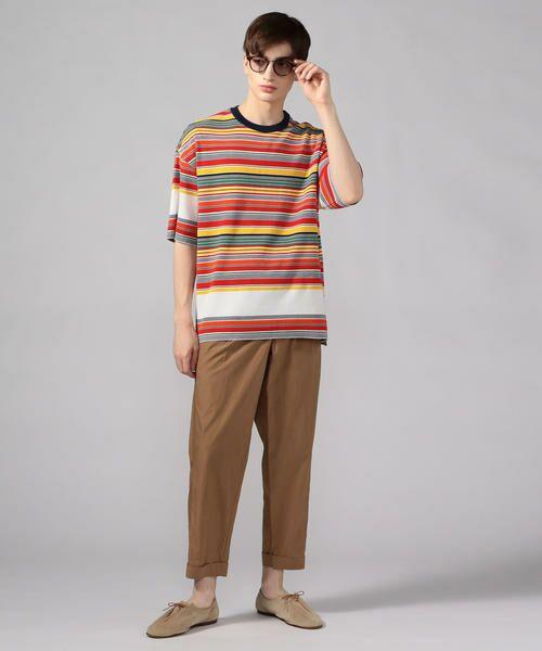 TOMORROWLAND / トゥモローランド Tシャツ   カラフルボーダー ビッグニットTシャツ tricot-T   詳細1