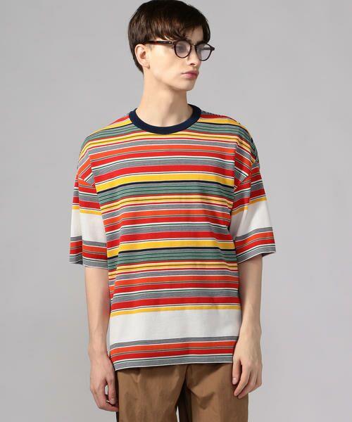 TOMORROWLAND / トゥモローランド Tシャツ   カラフルボーダー ビッグニットTシャツ tricot-T   詳細14
