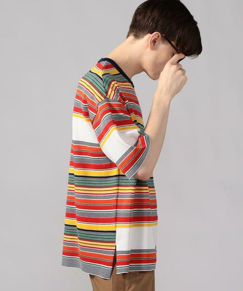 TOMORROWLAND / トゥモローランド Tシャツ   カラフルボーダー ビッグニットTシャツ tricot-T   詳細15