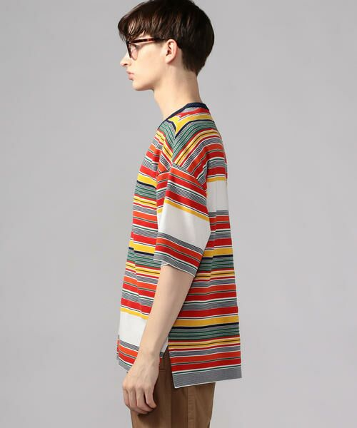 TOMORROWLAND / トゥモローランド Tシャツ   カラフルボーダー ビッグニットTシャツ tricot-T   詳細3