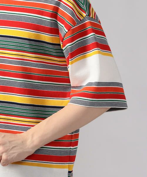 TOMORROWLAND / トゥモローランド Tシャツ   カラフルボーダー ビッグニットTシャツ tricot-T   詳細7