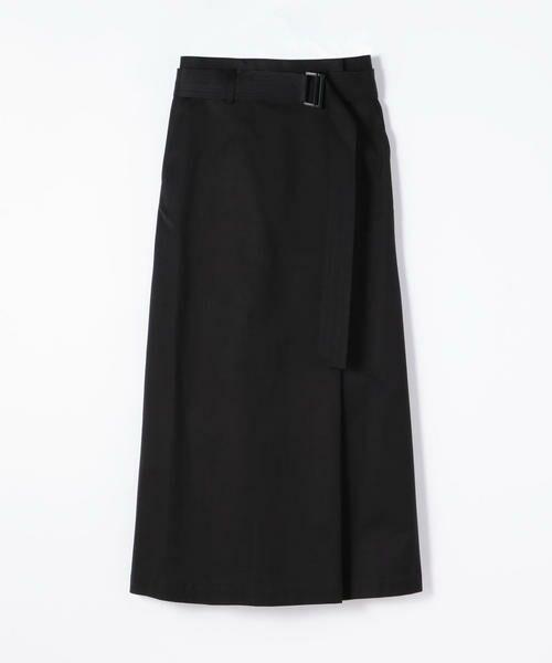 TOMORROWLAND / トゥモローランド ロング・マキシ丈スカート | サップルツイル ベルテッドロングスカート(69 ネイビー)