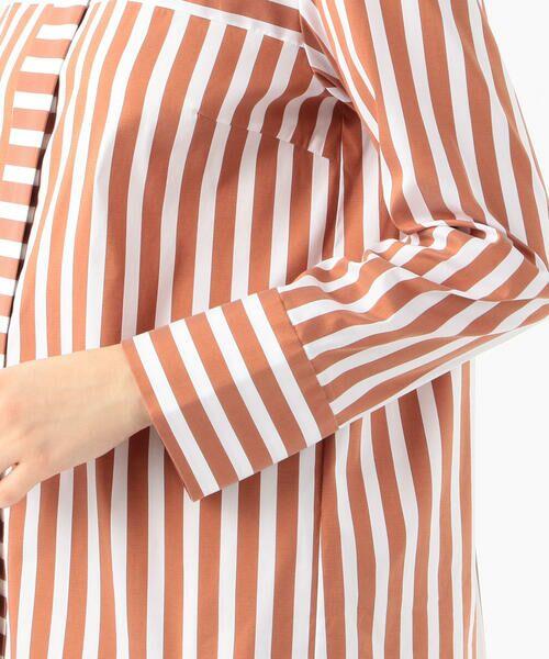 TOMORROWLAND / トゥモローランド シャツ・ブラウス   ストレッチブロードストライプ ノーカラーシャツ   詳細10