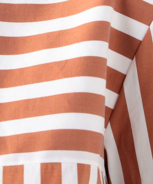 TOMORROWLAND / トゥモローランド シャツ・ブラウス   ストレッチブロードストライプ ノーカラーシャツ   詳細7