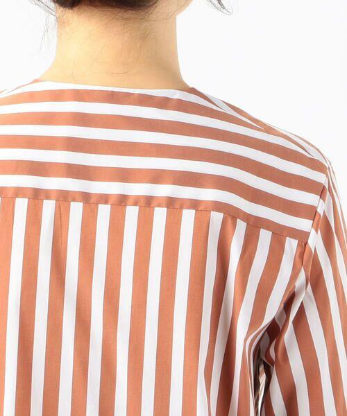 TOMORROWLAND / トゥモローランド シャツ・ブラウス   ストレッチブロードストライプ ノーカラーシャツ   詳細9