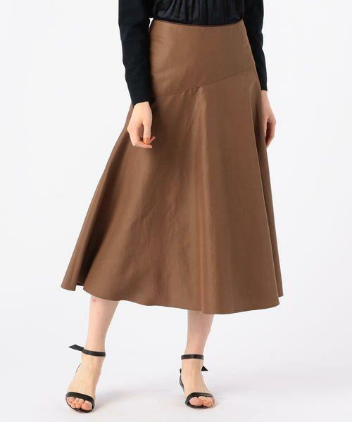 TOMORROWLAND / トゥモローランド ミニ・ひざ丈スカート | ライトモールスキン マーメイドスカート(47 ブラウン)